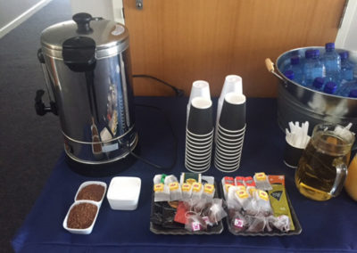 Corporate event Hot drinks set up