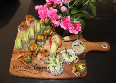 Homemade sushi platter