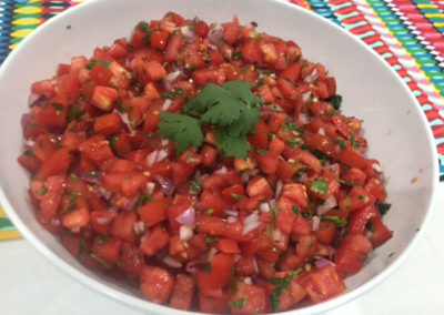 Mexican fresh tomato salsa